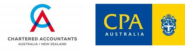 Chartered Accountants Australia & New Zealand and CPA Australia logos